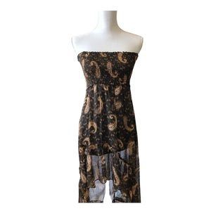 4/$20 Cecico Asymmetrical Print Strapless Dress